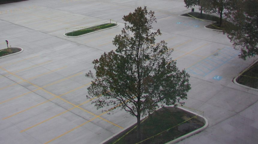 Conventional Concrete Parking Lot