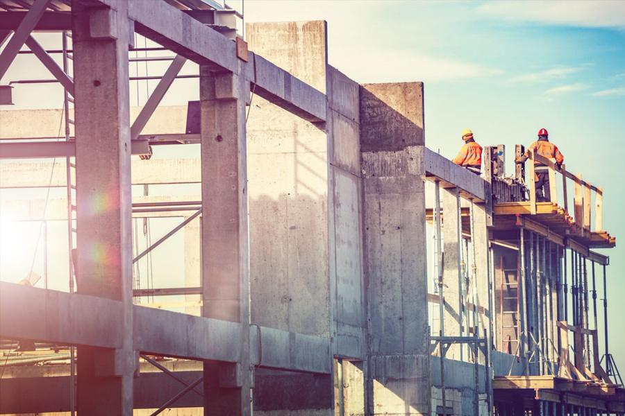 Concrete construction building